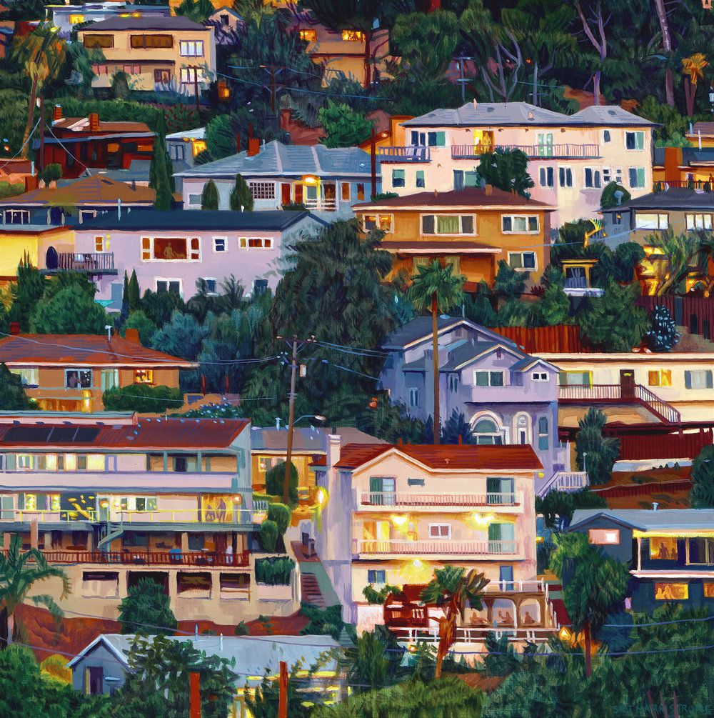 Lush Hyper Realistic Urban Landscape Paintings By Seth Armstrong 7