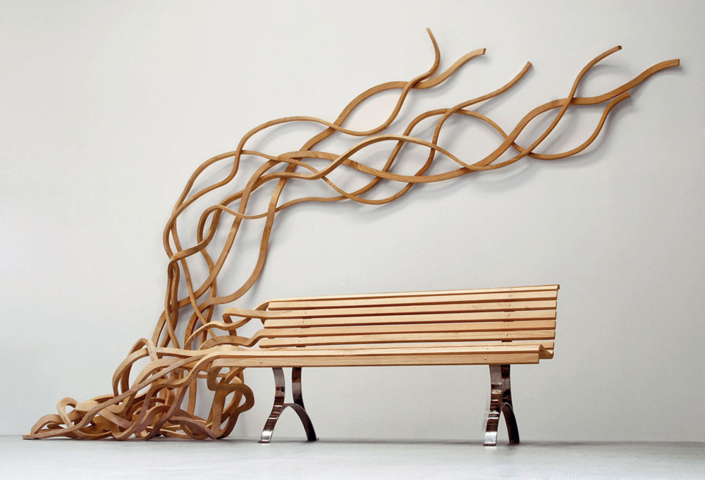 Sculptural Twisted Spaghetti Like Benches By Pablo Reinoso 3