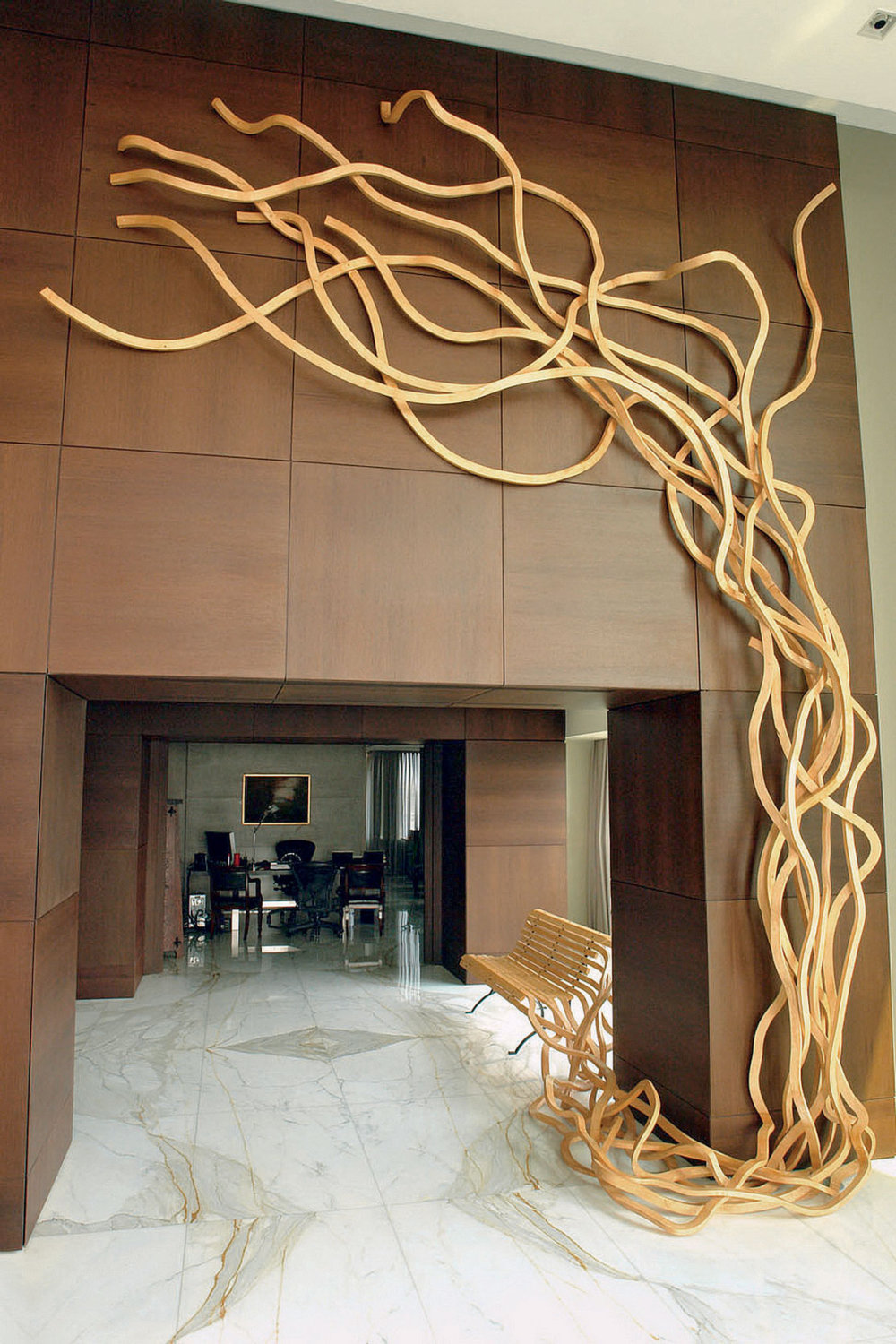 Sculptural Twisted Spaghetti Like Benches By Pablo Reinoso 4