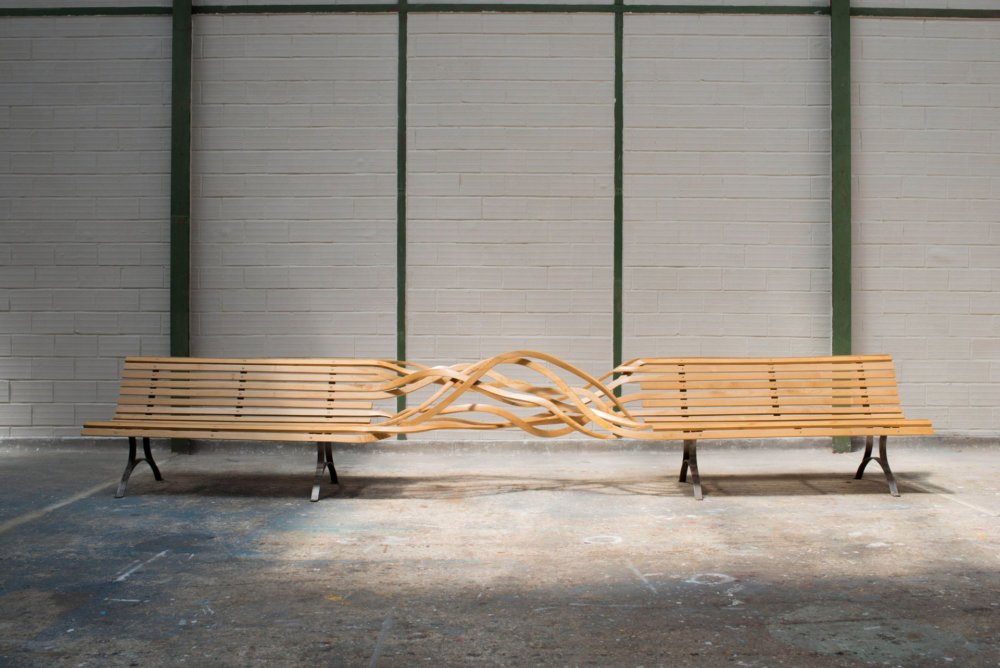 Sculptural Twisted Spaghetti Like Benches By Pablo Reinoso 7