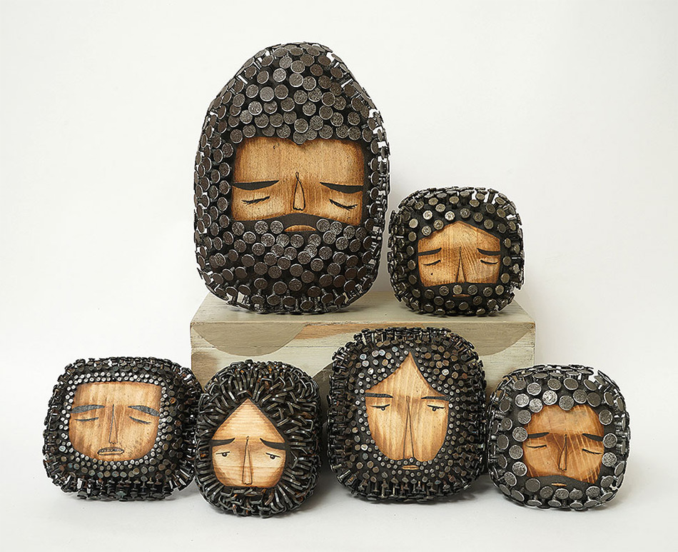 Stunningly Figurative Wood Sculptures Pierced With Hundreds Of Nails By Jaime Molina 2