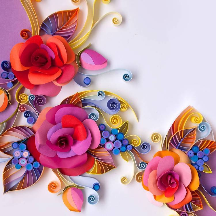 The Vibrant And Colorful Paper Quilling Art Of Yulia Brodskaya 8