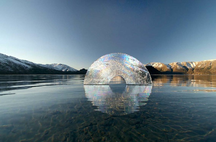 Environmental Art Interventions With Reflective Circle Sculptures By Martin Hill 1