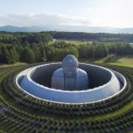 Extraordinary underground temple with a giant statue of Buddha inside by Tadao Ando