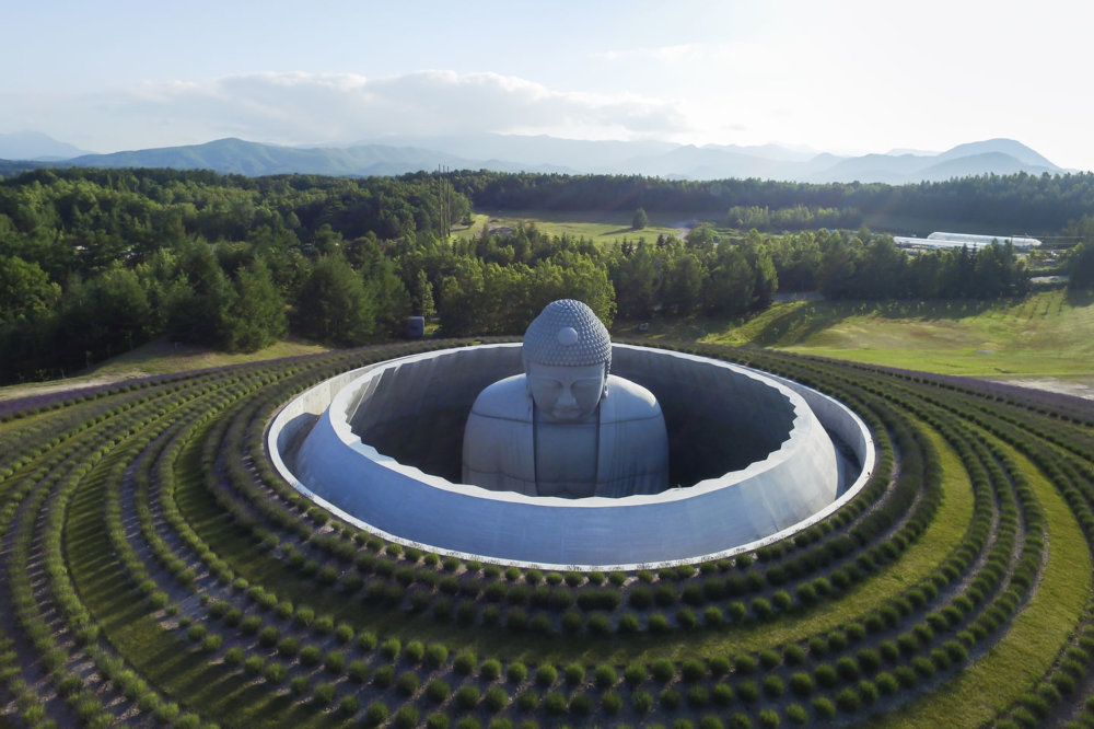 Extraordinary Underground Temple With A Giant Statue Of Buddha Inside By Tadao Ando 1