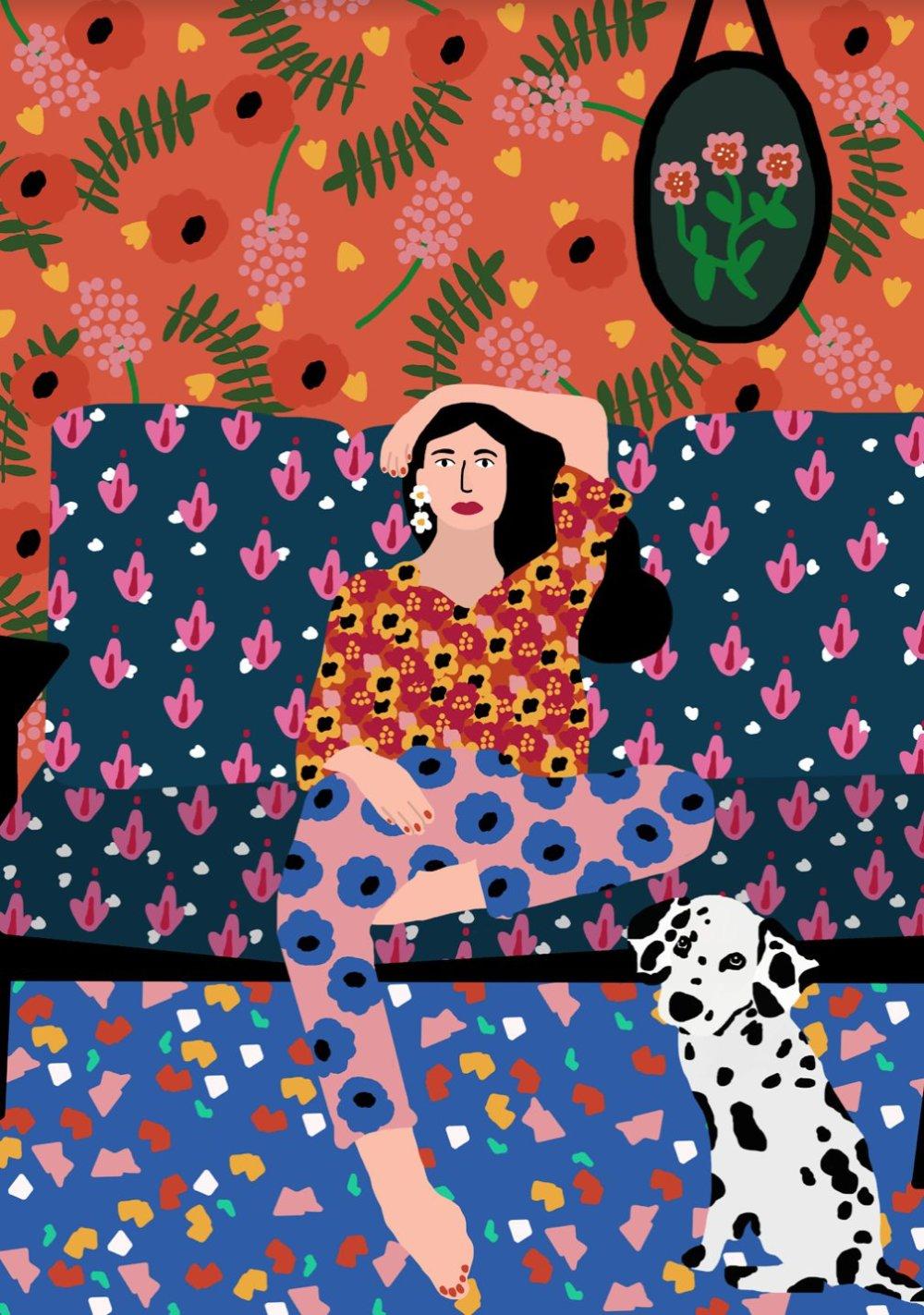 Gorgeous And Colorful Floral Illustrations By Rafaela Mascaro 1
