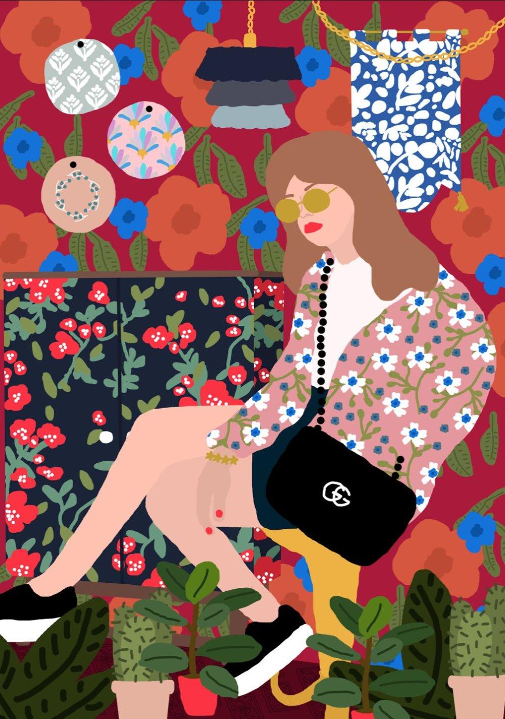 Gorgeous And Colorful Floral Illustrations By Rafaela Mascaro 2