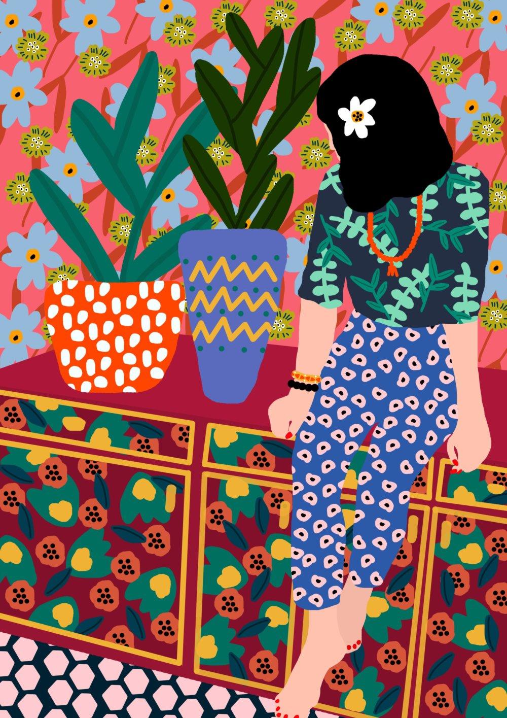 Gorgeous And Colorful Floral Illustrations By Rafaela Mascaro 3