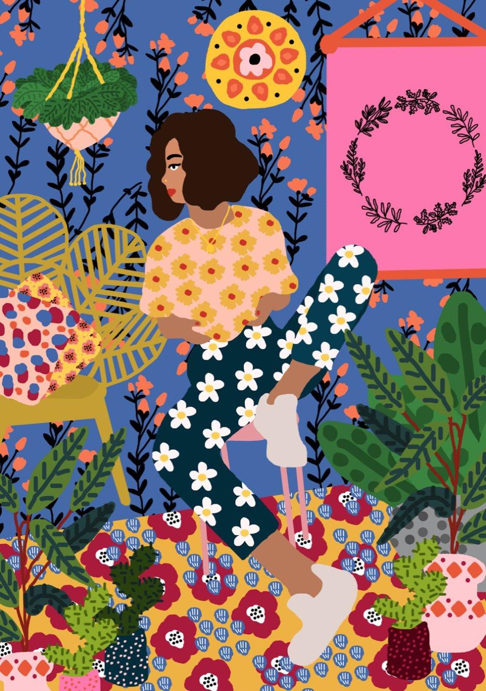 Gorgeous And Colorful Floral Illustrations By Rafaela Mascaro 4
