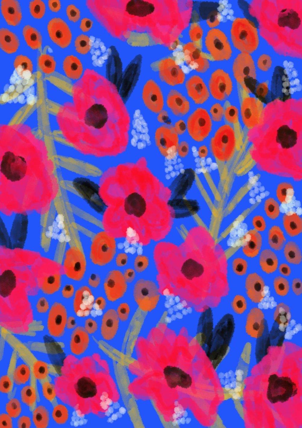 Gorgeous And Colorful Floral Illustrations By Rafaela Mascaro 6