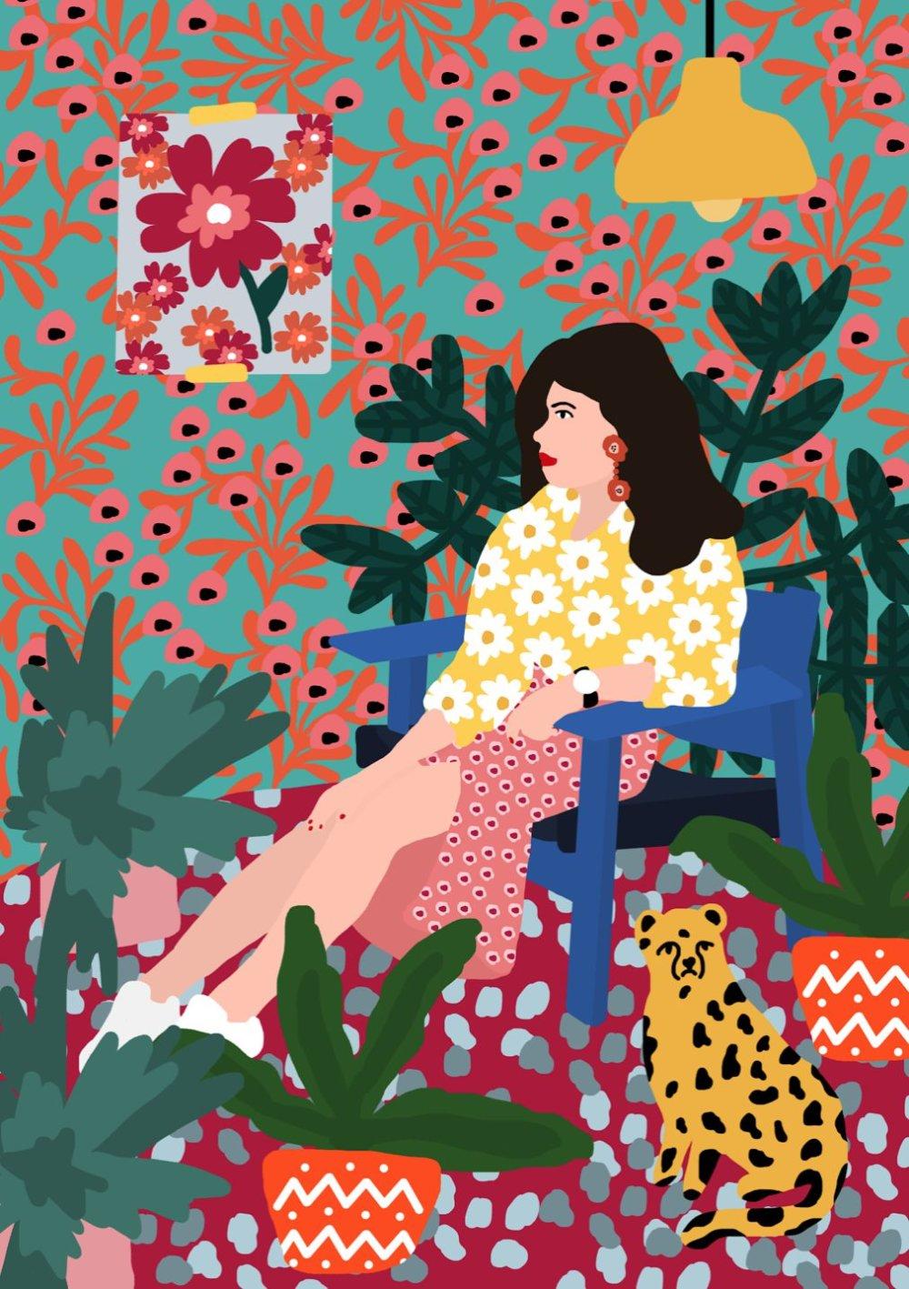 Gorgeous And Colorful Floral Illustrations By Rafaela Mascaro 8