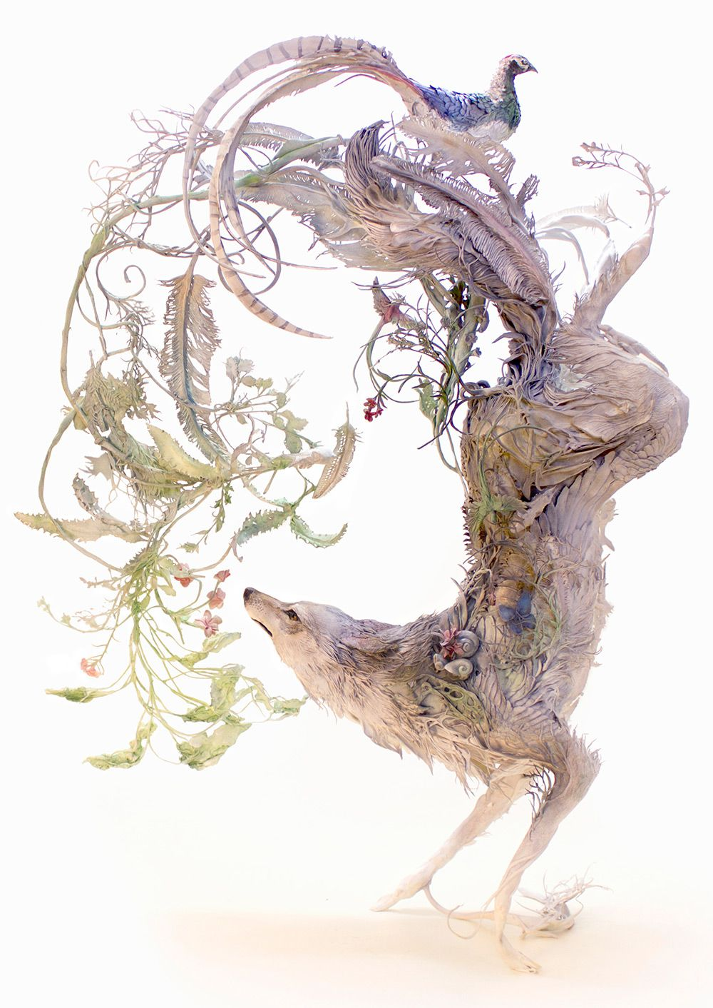 Lush And Surreal Sculptures Of Symbiotic Animals By Ellen Jewett 1
