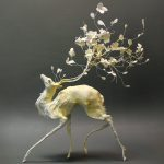 Lush and surreal sculptures of symbiotic animals by Ellen Jewett