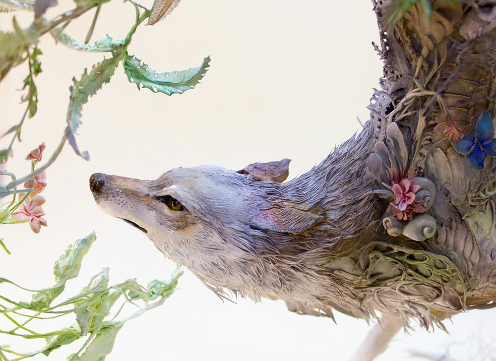 Lush And Surreal Sculptures Of Symbiotic Animals By Ellen Jewett 2