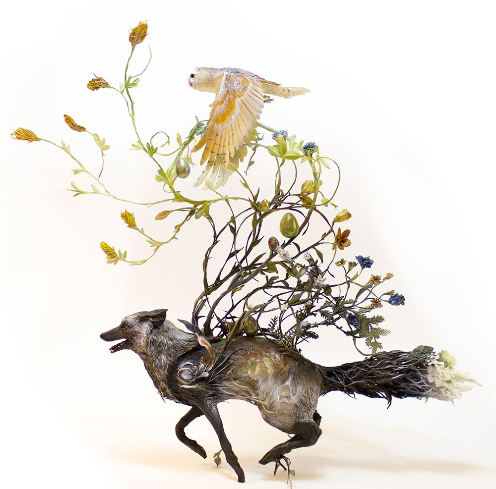 Lush And Surreal Sculptures Of Symbiotic Animals By Ellen Jewett 3