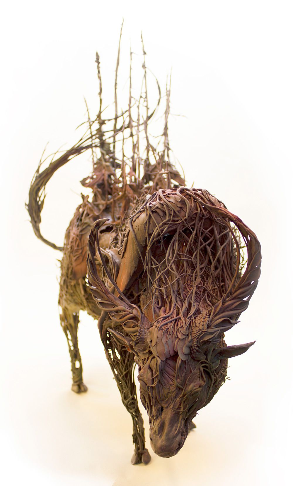 Lush And Surreal Sculptures Of Symbiotic Animals By Ellen Jewett 5