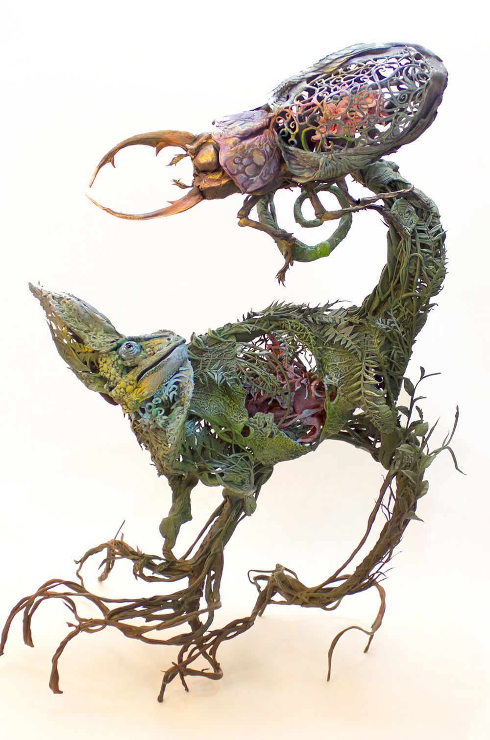 Lush And Surreal Sculptures Of Symbiotic Animals By Ellen Jewett 6
