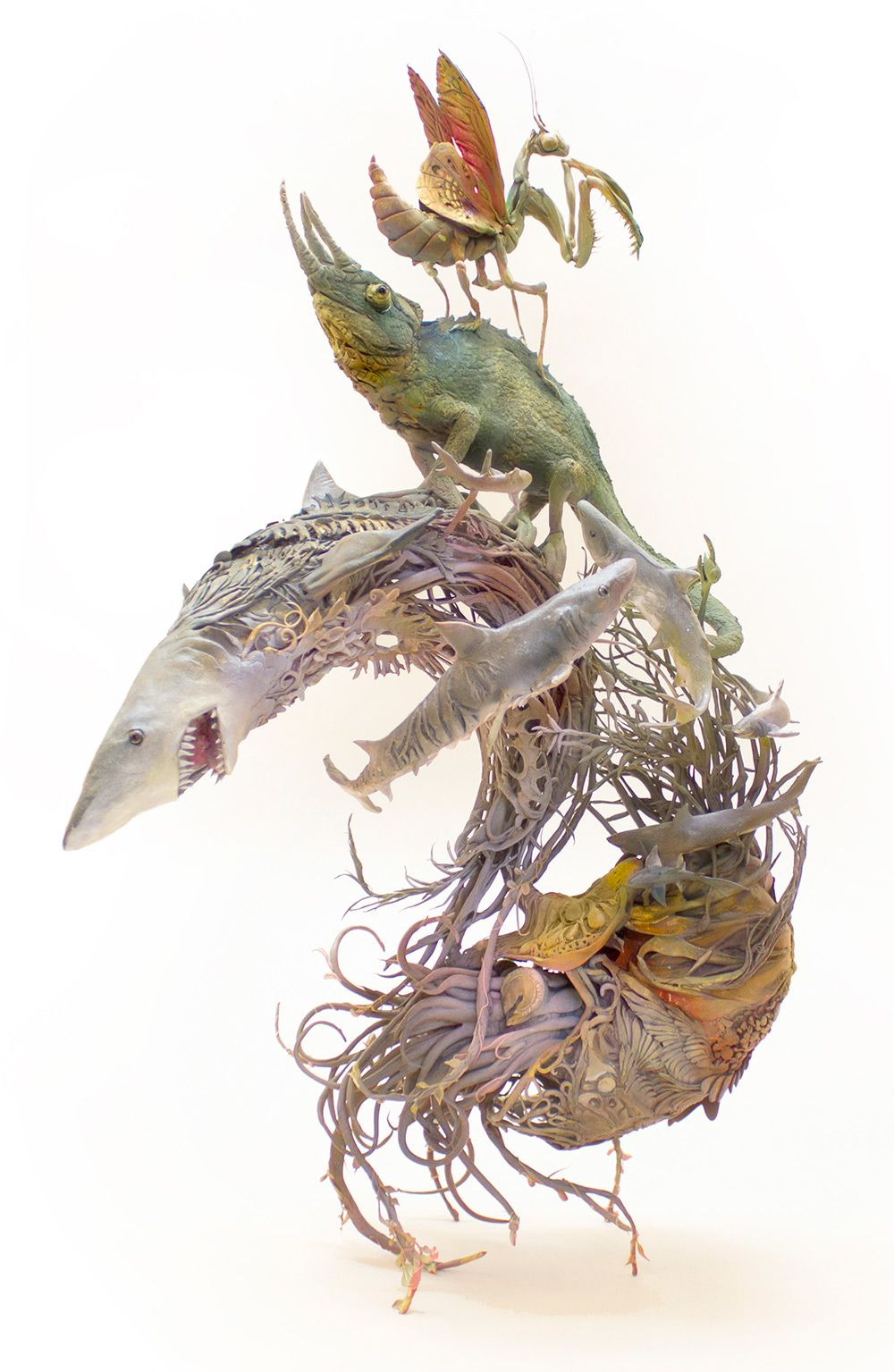 Lush And Surreal Sculptures Of Symbiotic Animals By Ellen Jewett 7