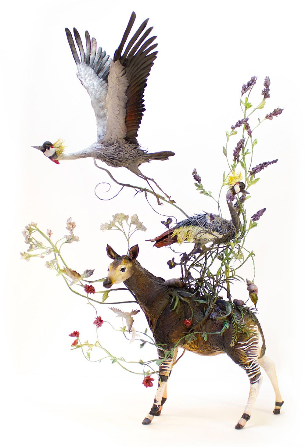 Lush And Surreal Sculptures Of Symbiotic Animals By Ellen Jewett 8