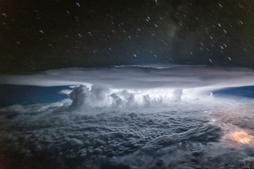 Astonishing Storm Photographs Taken From Cockpits By Pilot Santiago Borja 10