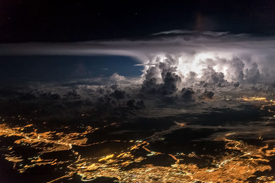 Astonishing Storm Photographs Taken From Cockpits By Pilot Santiago Borja 4