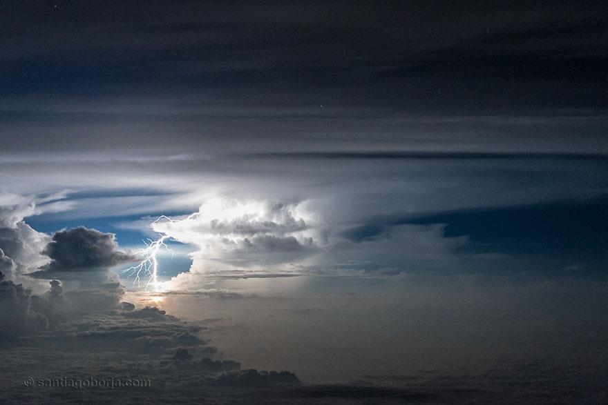 Astonishing Storm Photographs Taken From Cockpits By Pilot Santiago Borja 5
