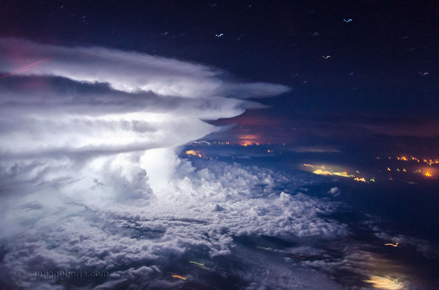 Astonishing Storm Photographs Taken From Cockpits By Pilot Santiago Borja 6