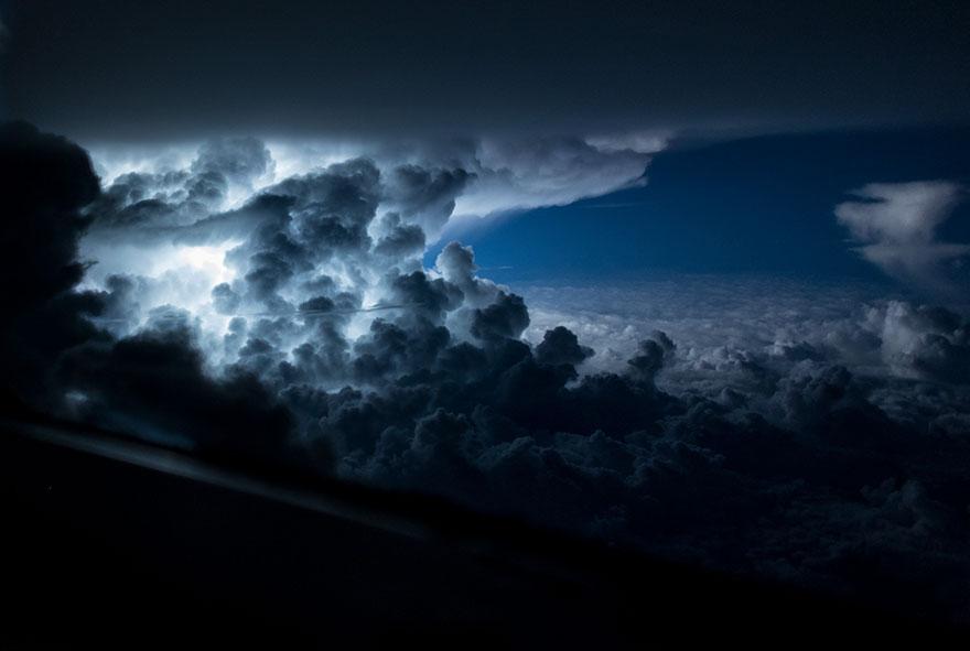 Astonishing Storm Photographs Taken From Cockpits By Pilot Santiago Borja 8