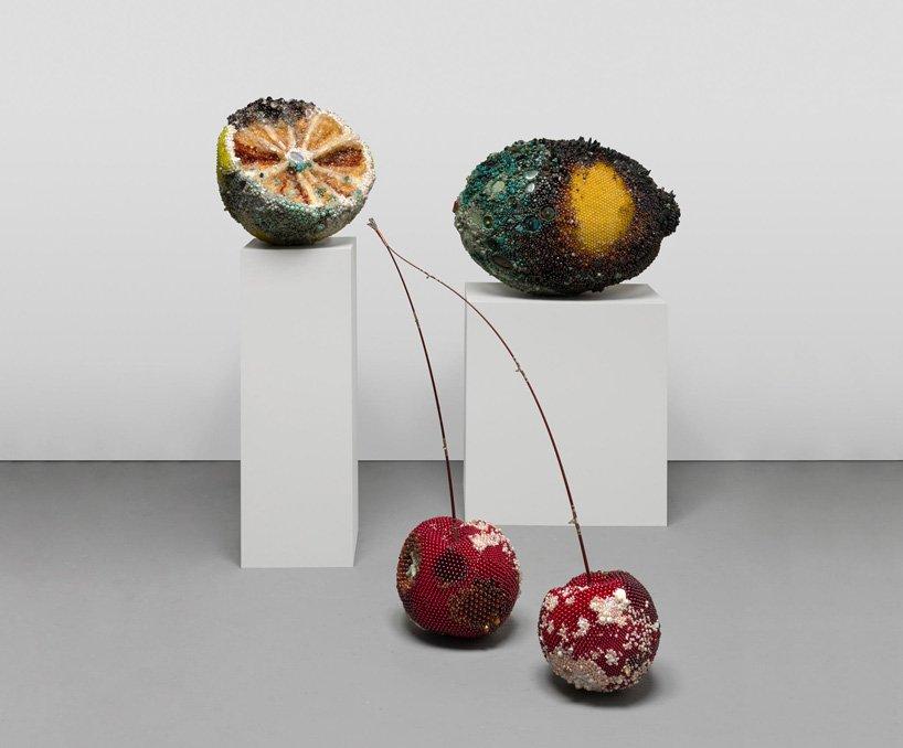 Bad Fruit Beautifully Bejeweled Rotting Fruit Sculptures By Kathleen Ryan 6