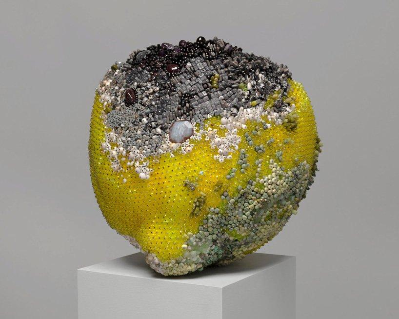 Bad Fruit Beautifully Bejeweled Rotting Fruit Sculptures By Kathleen Ryan 8