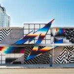 Chromatic 80s-style murals by Felipe Pantone
