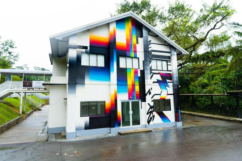 Chromatic 80s Style Murals By Felipe Pantone 2