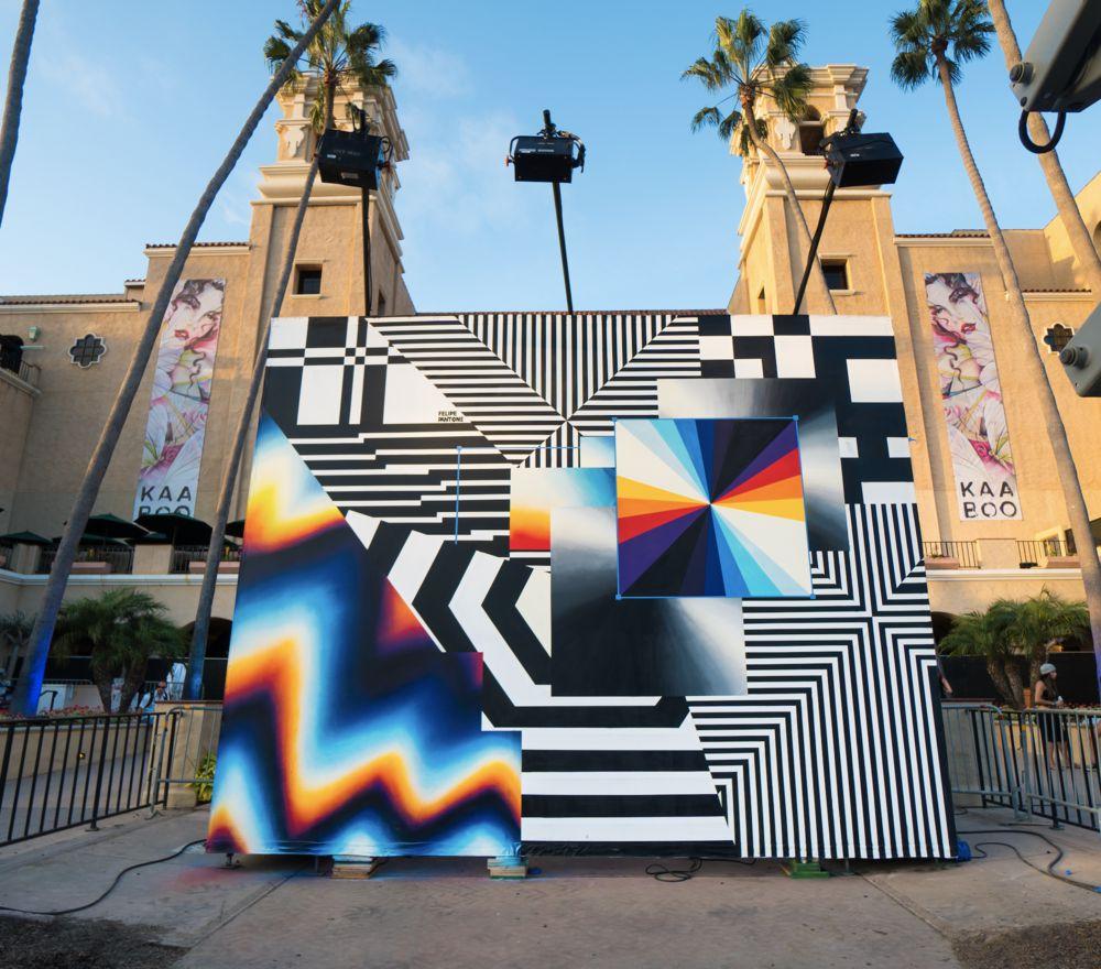 Chromatic 80s Style Murals By Felipe Pantone 3