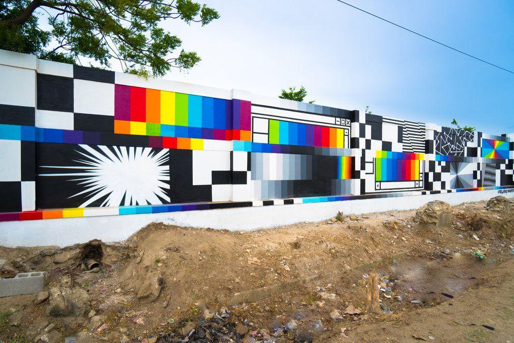 Chromatic 80s Style Murals By Felipe Pantone 5