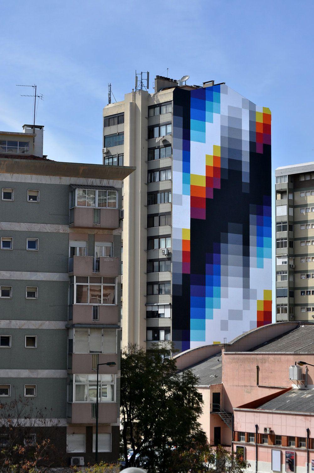 Chromatic 80s Style Murals By Felipe Pantone 8