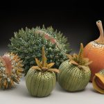 Colorful and textural sculptures of imagined tropical fruits and vegetables by William Kidd