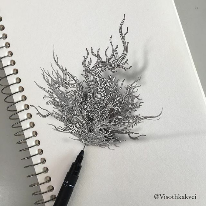 Fantastic Doodles With Digital Enhancement By Visoth Kakvei 10