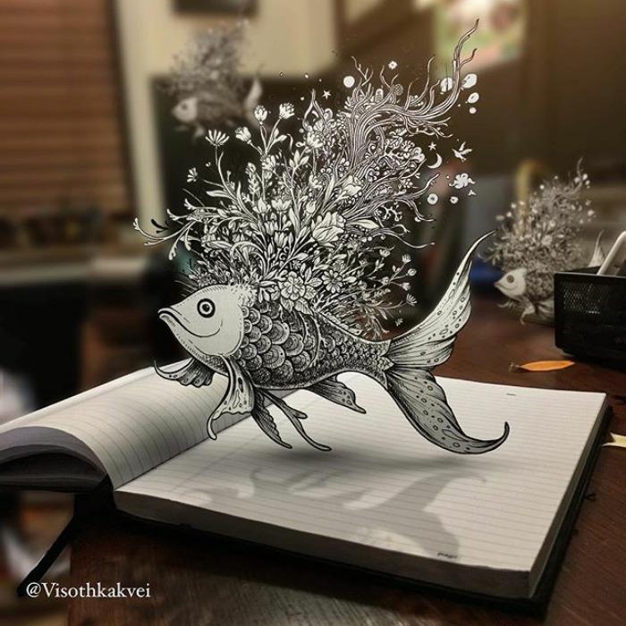 Fantastic Doodles With Digital Enhancement By Visoth Kakvei 11