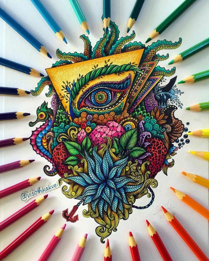 Fantastic Doodles With Digital Enhancement By Visoth Kakvei 16