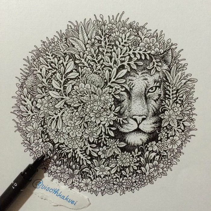 Fantastic Doodles With Digital Enhancement By Visoth Kakvei 19