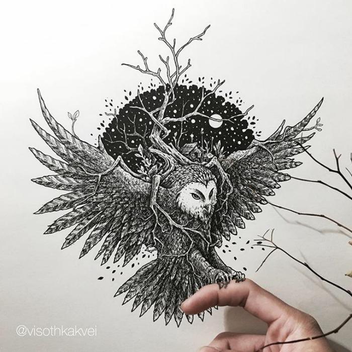 Fantastic Doodles With Digital Enhancement By Visoth Kakvei 20