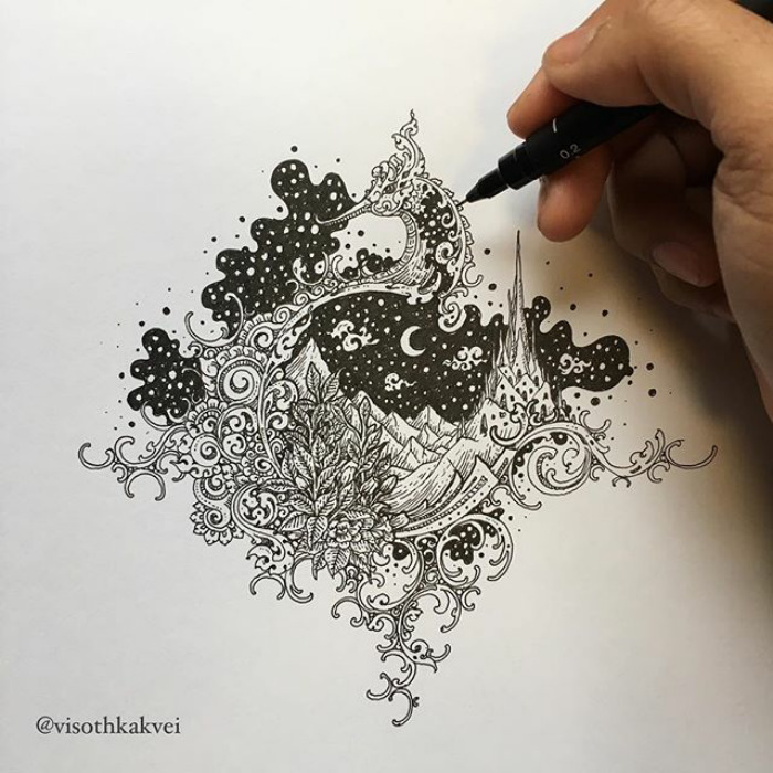 Fantastic Doodles With Digital Enhancement By Visoth Kakvei 22