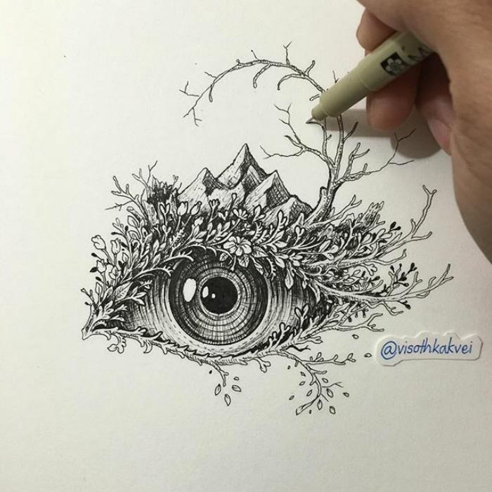 Fantastic Doodles With Digital Enhancement By Visoth Kakvei 23