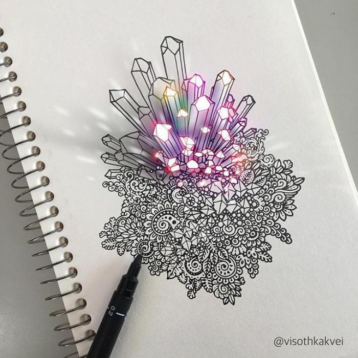 Fantastic Doodles With Digital Enhancement By Visoth Kakvei 3