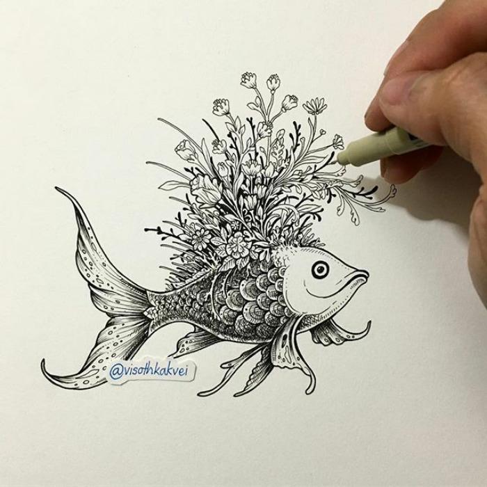 Fantastic Doodles With Digital Enhancement By Visoth Kakvei 41