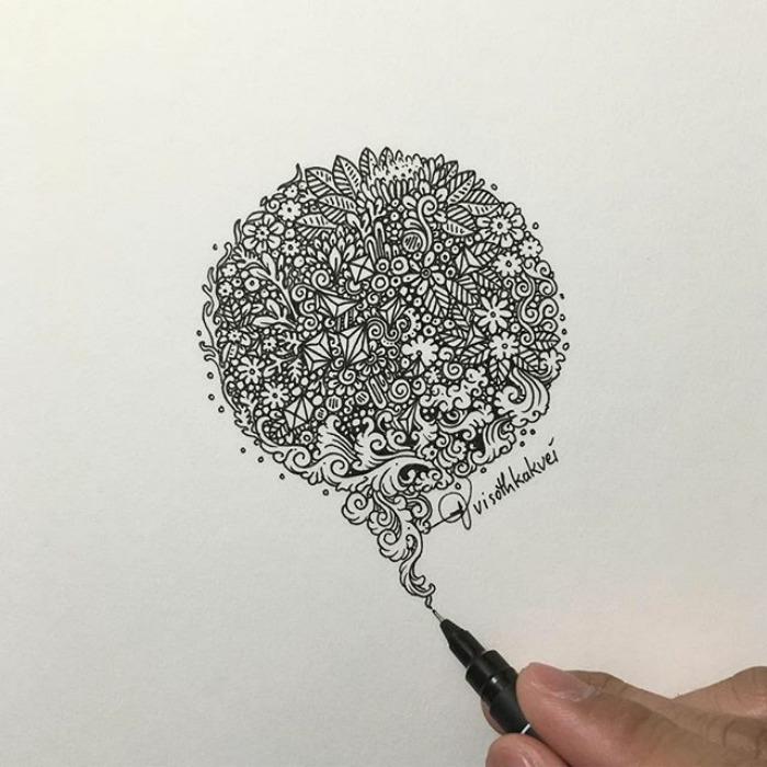 Fantastic Doodles With Digital Enhancement By Visoth Kakvei 44