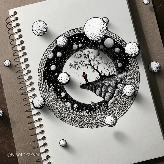 Fantastic Doodles With Digital Enhancement By Visoth Kakvei 6