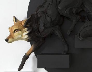 Fascinating human emotions-themed animal sculptures by Beth Cavener