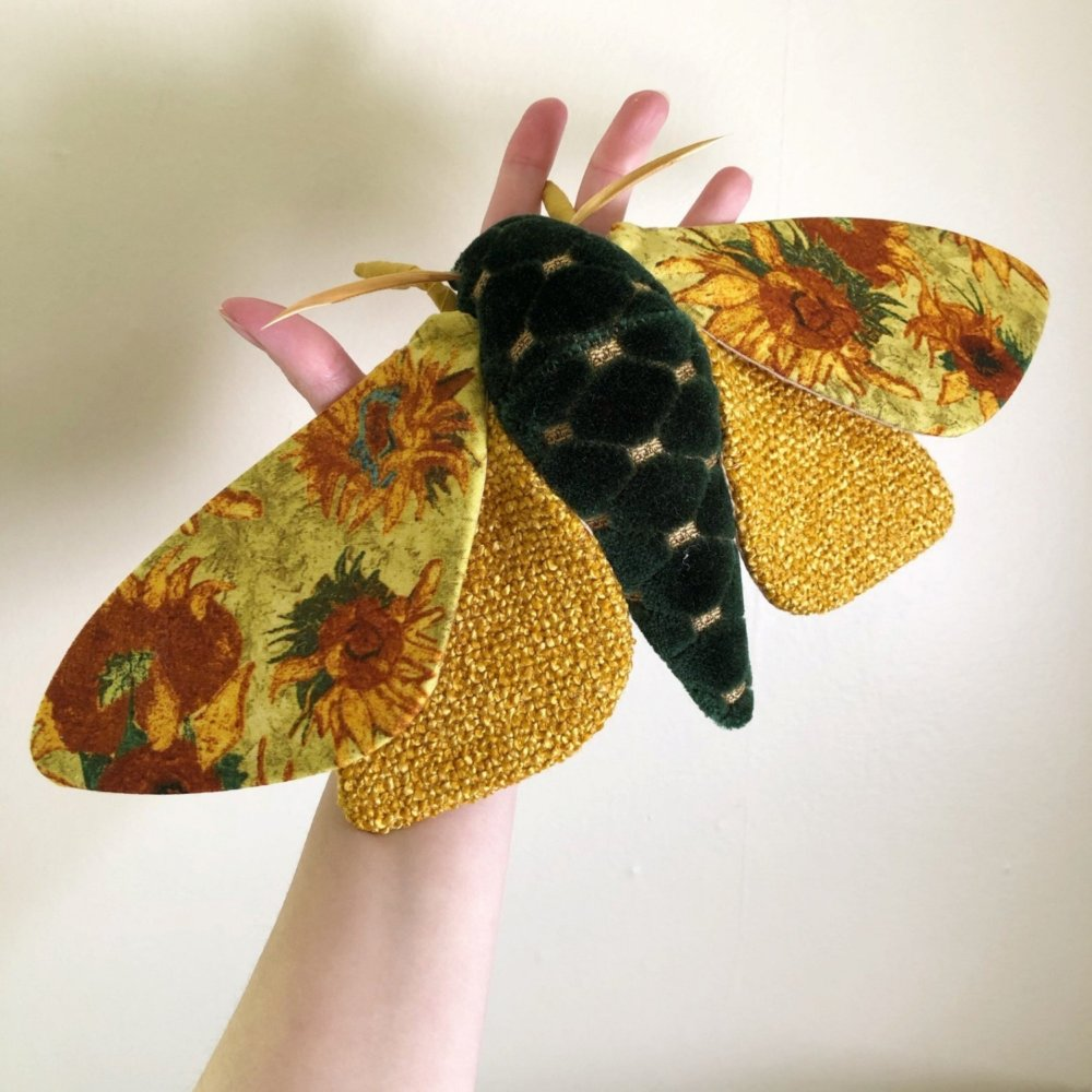 Gorgeous Moths And Bats Fiber Sculptures Made With Printed Fabrics By Molly Burgess 6