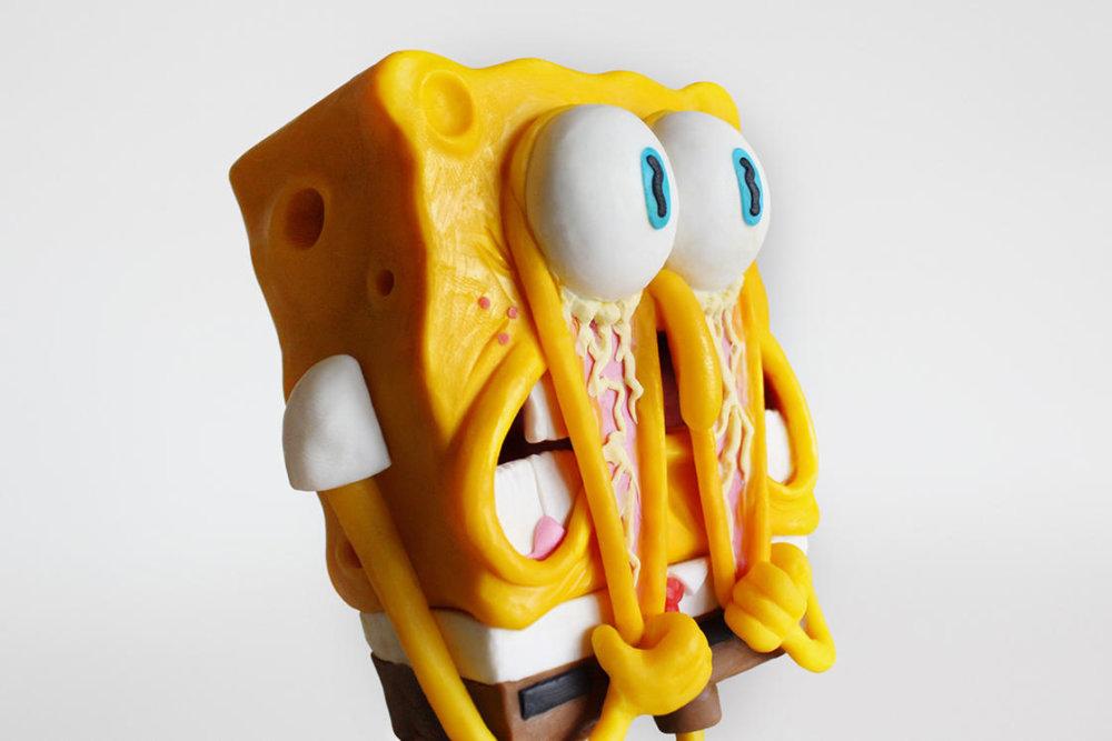 Handmade Polymer Clay Sculptures Of Spongebob By Alex Palazzi And Cecilia Fracchia 1